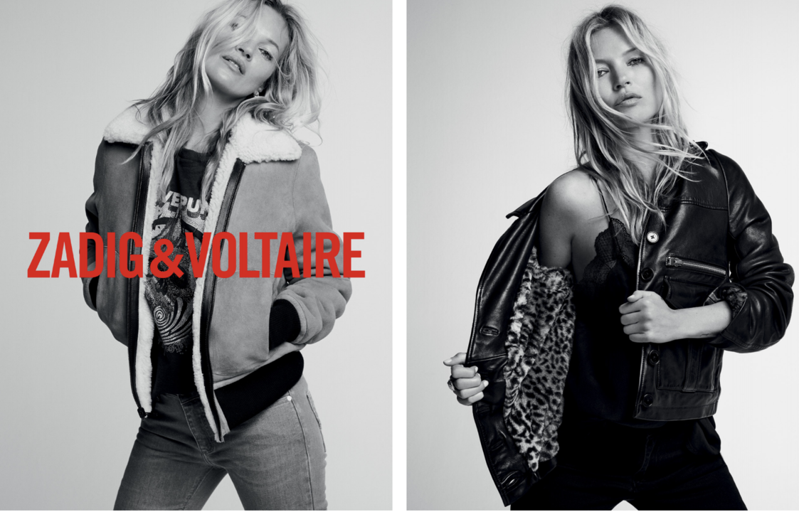 KATE MOSS THE NEW ZADIG&VOLTAIRE MUSE illustration