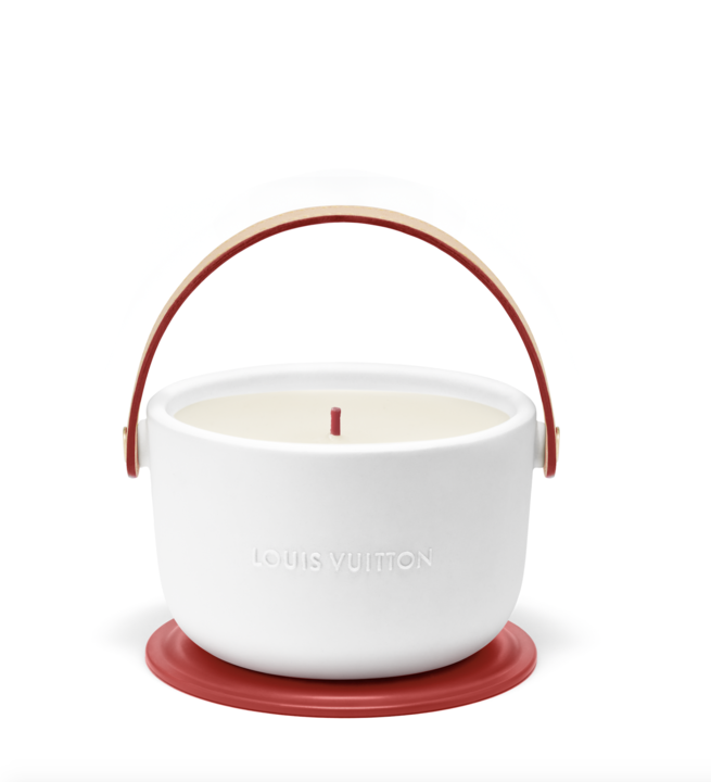 Louis Vuitton and (RED) present the Louis Vuitton I (RED) candle  in support of the fight to end AIDS illustration