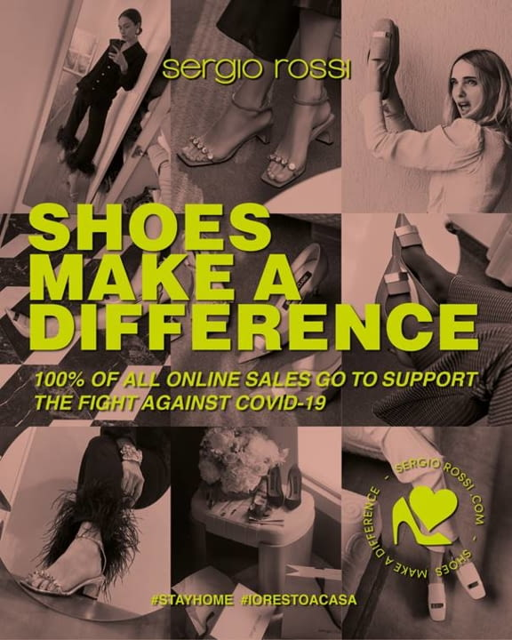 SERGIO ROSSI presents: SHOES MAKE A DIFFERENCE to support the fight against Covid-19 illustration