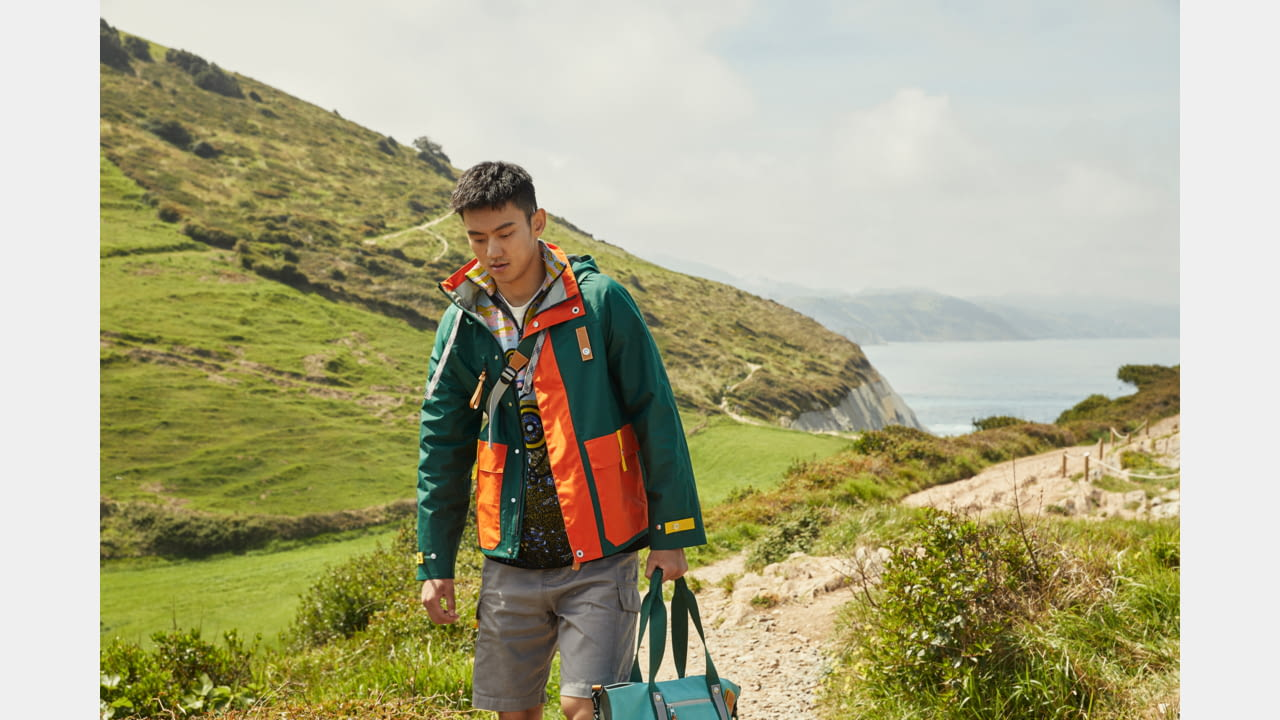 LOEWE'S SECOND EYE/LOEWE/NATURE COLLECTION CASTS ACTOR RUSSELL TOVEY AND OLYMPIAN NING ZETAO OUT AT SEA. illustration 1