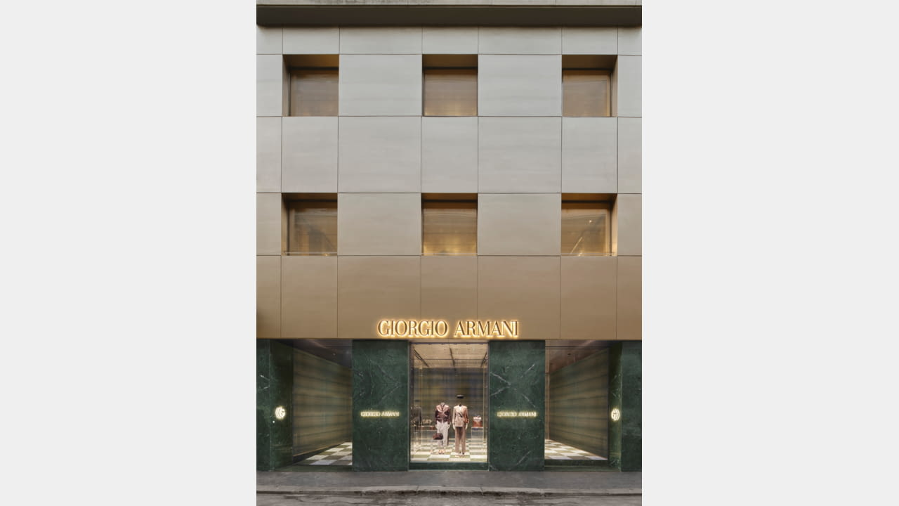 Giorgio Armani Boutique Returns to Via Sant'Andrea illustration 1