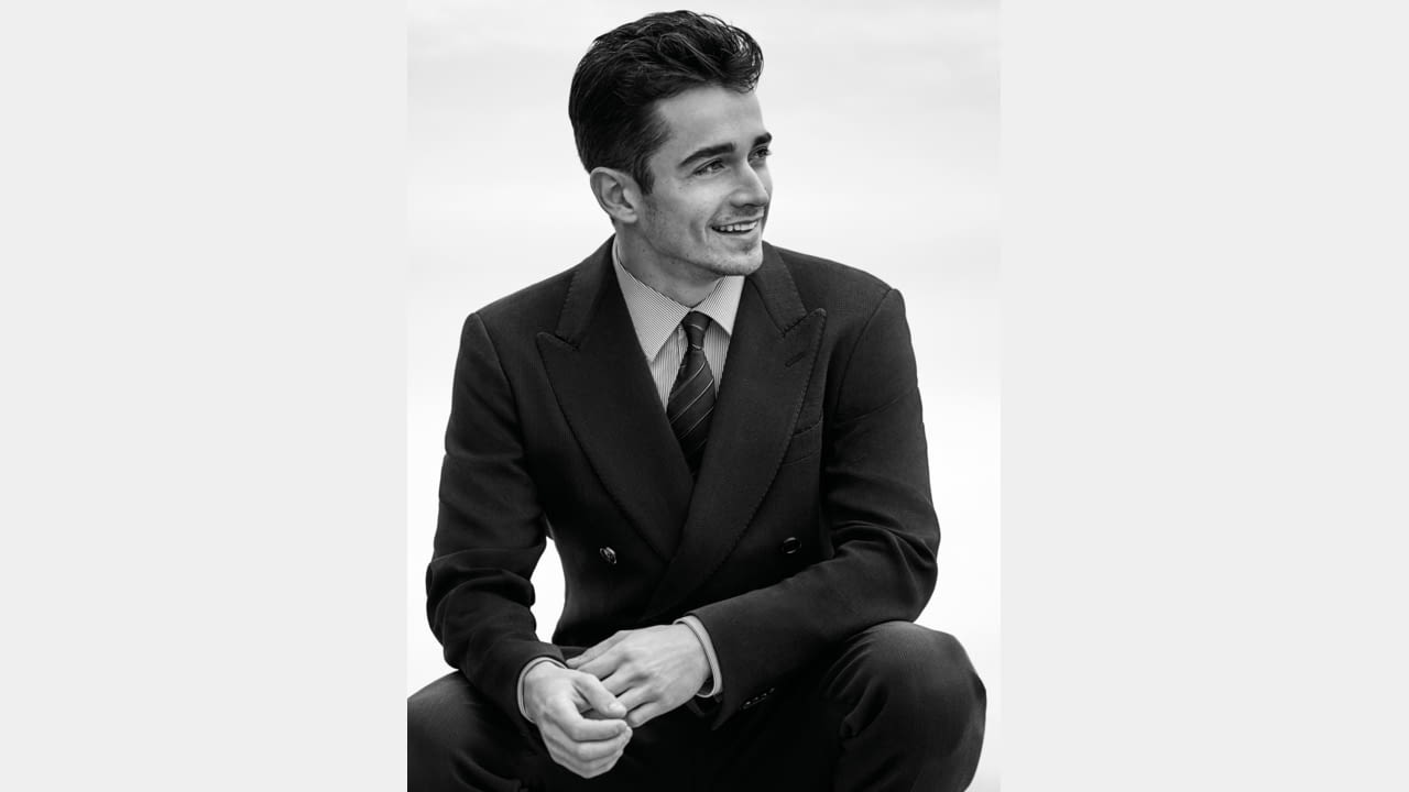 Charles Leclerc is the new face of the  Giorgio Armani Made to Measure Spring/Summer 2020 Campaign illustration 1