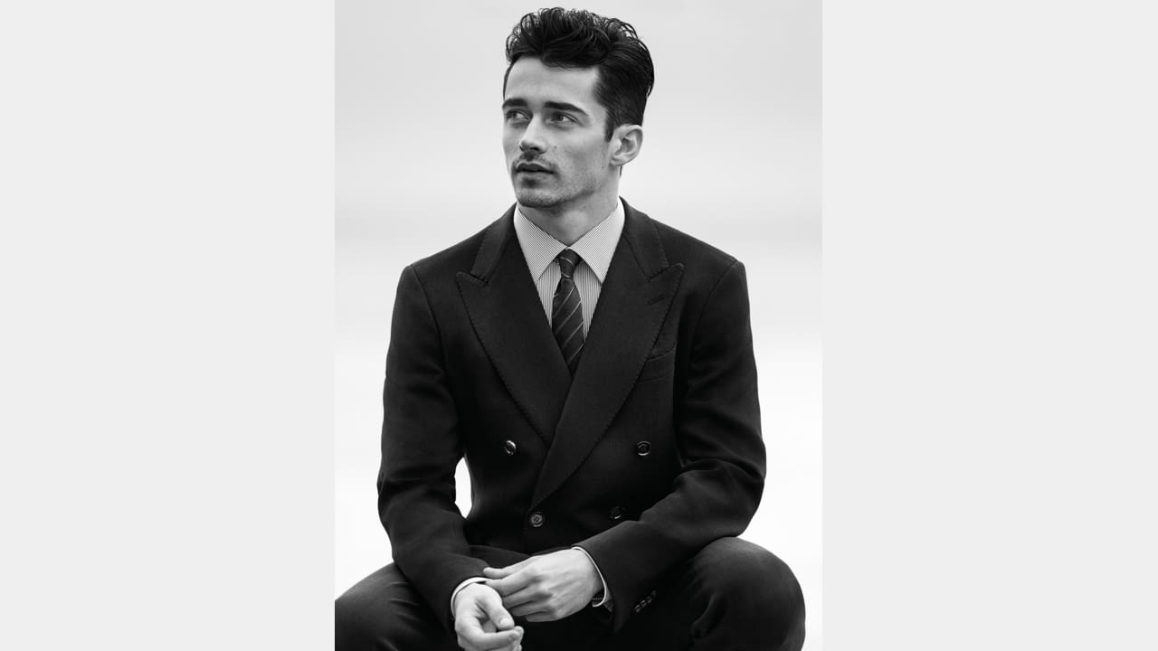 Charles Leclerc is the new face of the  Giorgio Armani Made to Measure Spring/Summer 2020 Campaign illustration 2