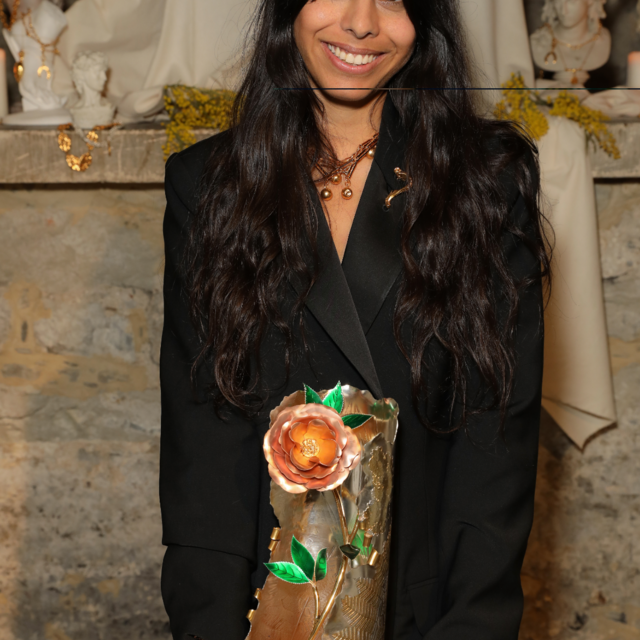 Rosh Mahtani of Alighieri Receives the Queen Elizabeth II Award for British Design at London Fashion Wee