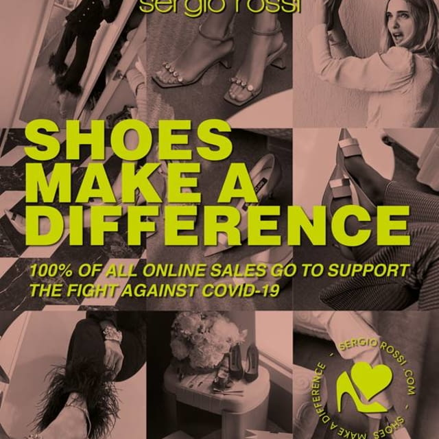 SERGIO ROSSI presents: SHOES MAKE A DIFFERENCE to support the fight against Covid-19