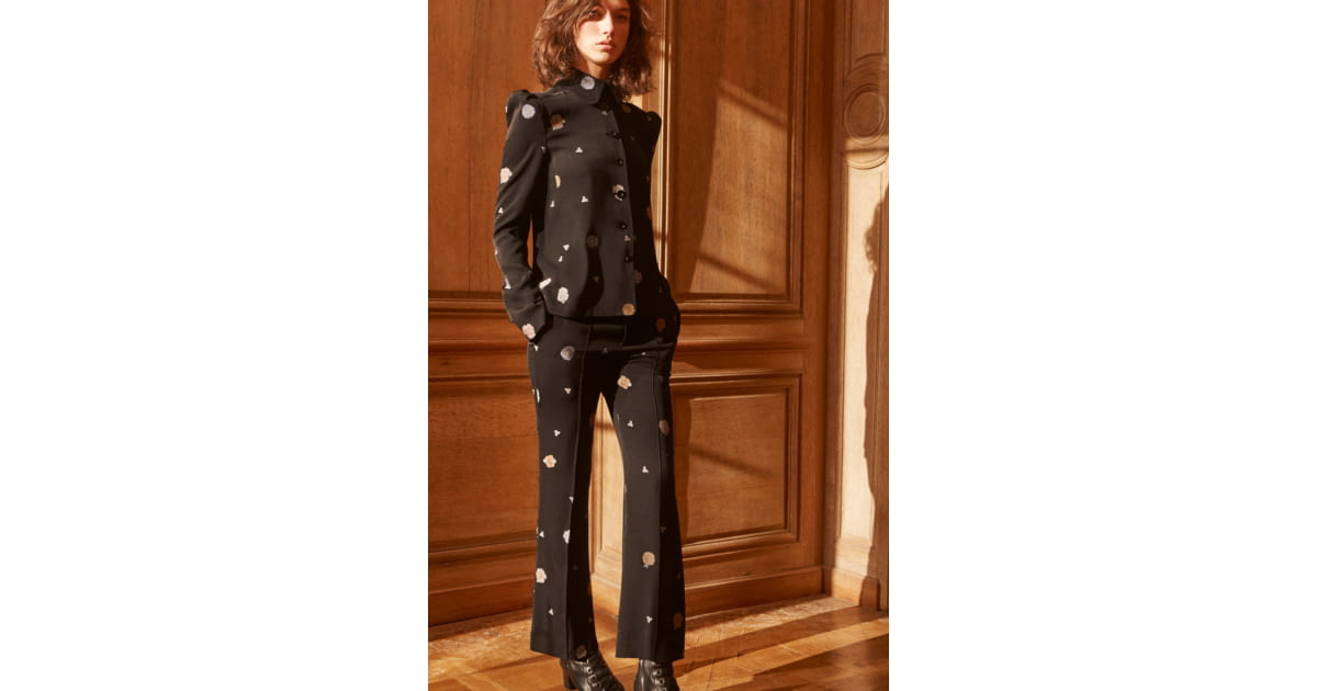 CH Long Medieval Trench Coat Women Jacket Winter Stand Collar Gothic Coat Ruffle