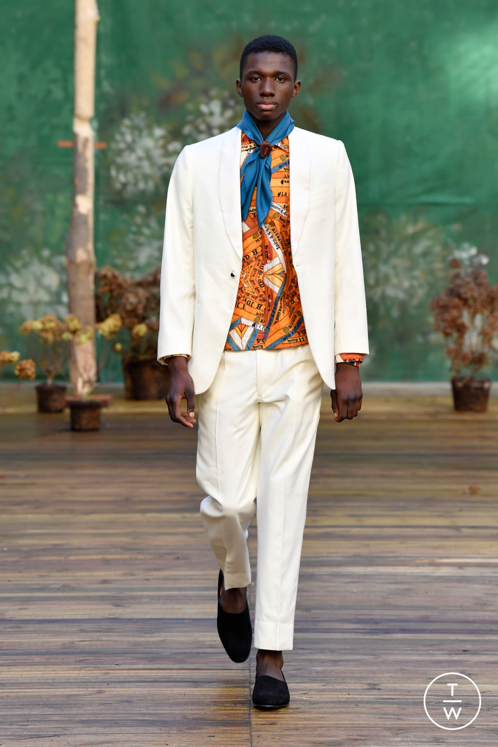 Fashion Week Paris Fall/Winter 2020 look 4 from the Bode collection menswear