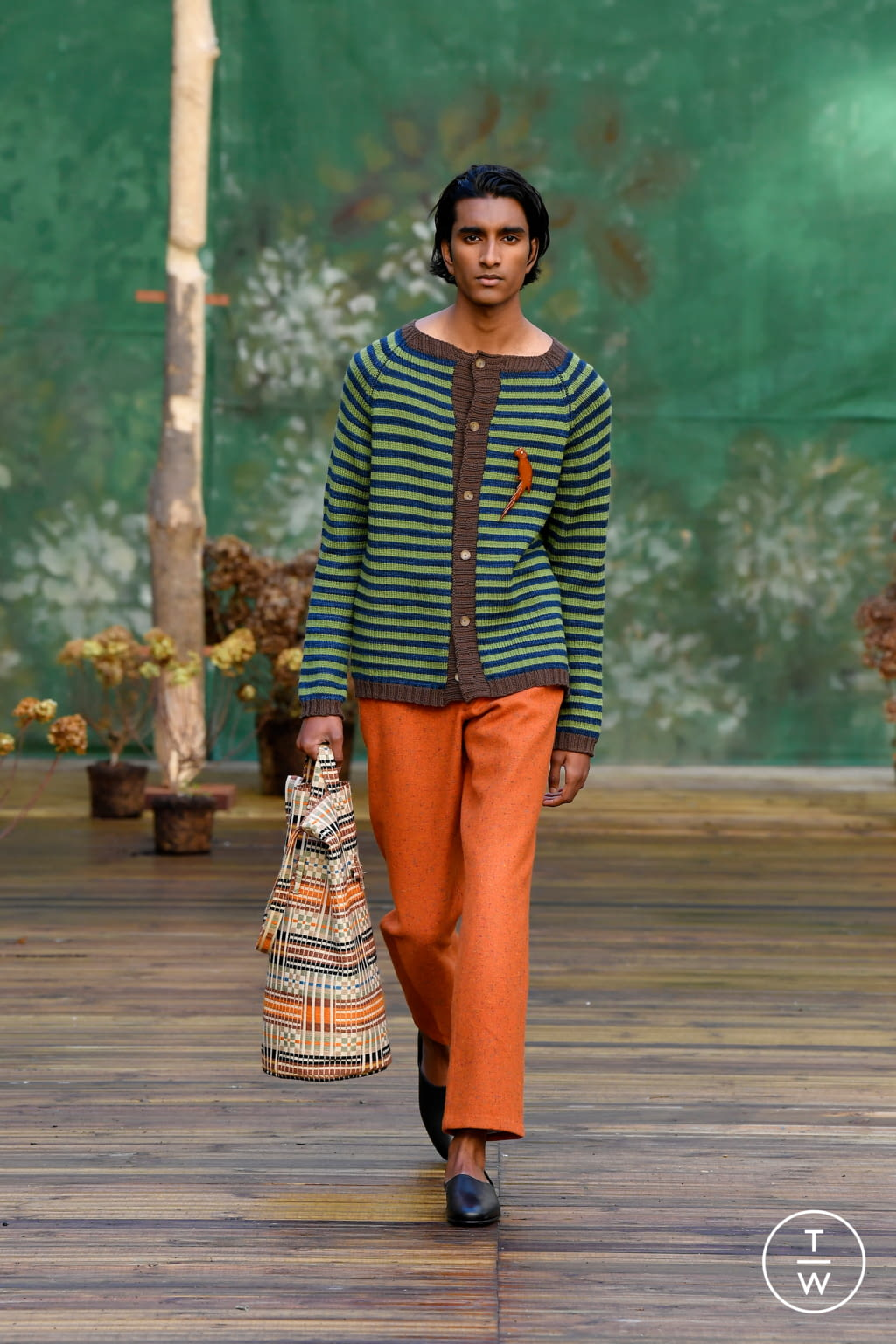 Fashion Week Paris Fall/Winter 2020 look 12 from the Bode collection menswear