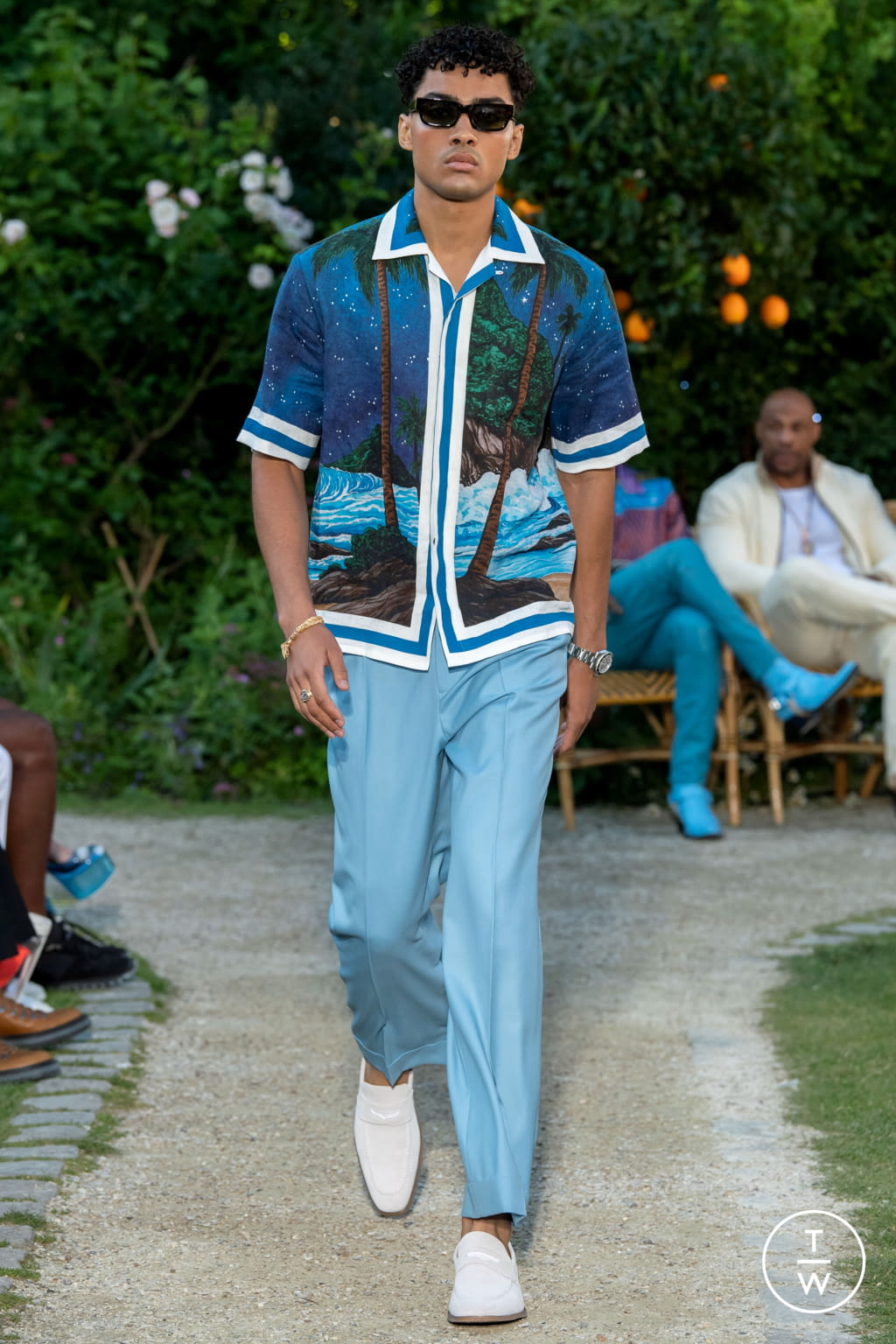 Fashion Week Paris Spring/Summer 2020 look 16 from the Casablanca collection menswear