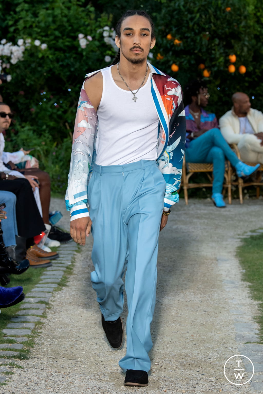 Fashion Week Paris Spring/Summer 2020 look 34 from the Casablanca collection menswear