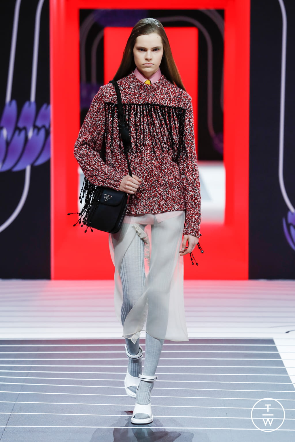 Fashion Week Milan Fall/Winter 2020 look 16 de la collection Prada womenswear