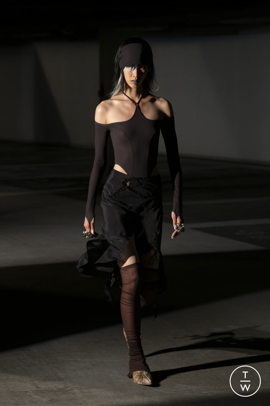 Fashion Week London Spring/Summer 2022 look 18 from the KNWLS collection womenswear