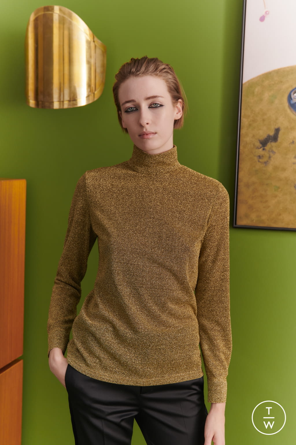 Fashion Week London Fall/Winter 2019 look 7 from the Bella Freud collection womenswear