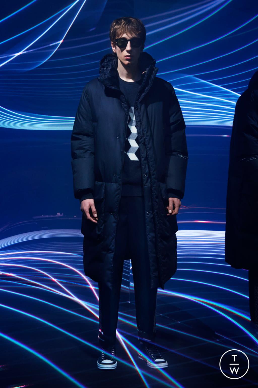 Fashion Week Milan Fall/Winter 2020 look 4 from the 7 Moncler Fragment Hiroshi Fujiwara collection menswear