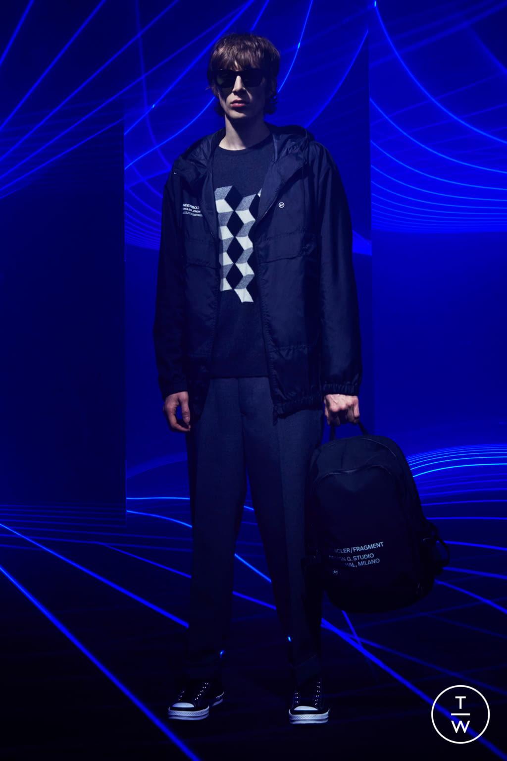 Fashion Week Milan Fall/Winter 2020 look 8 from the 7 Moncler Fragment Hiroshi Fujiwara collection menswear