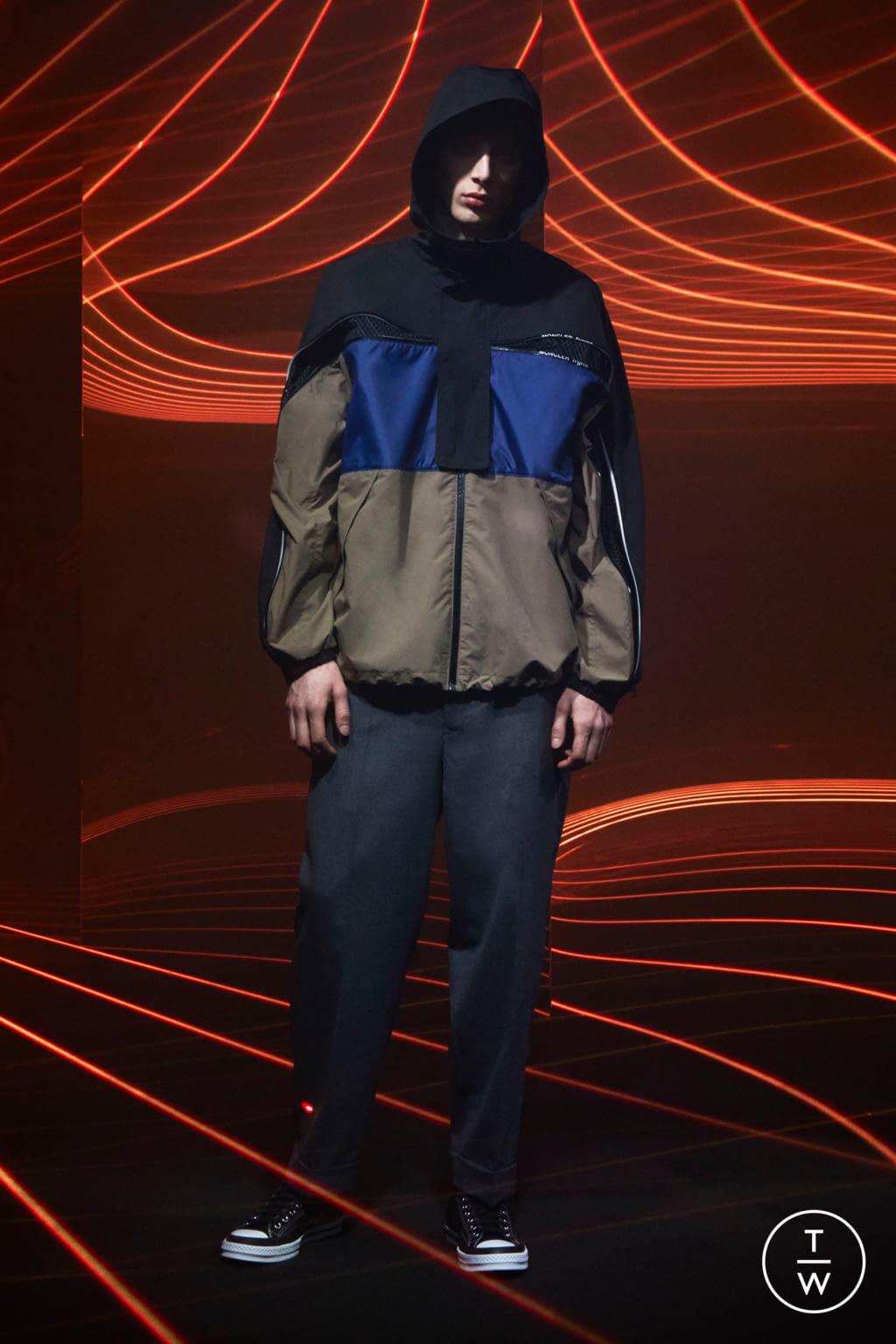 Fashion Week Milan Fall/Winter 2020 look 19 from the 7 Moncler Fragment Hiroshi Fujiwara collection menswear