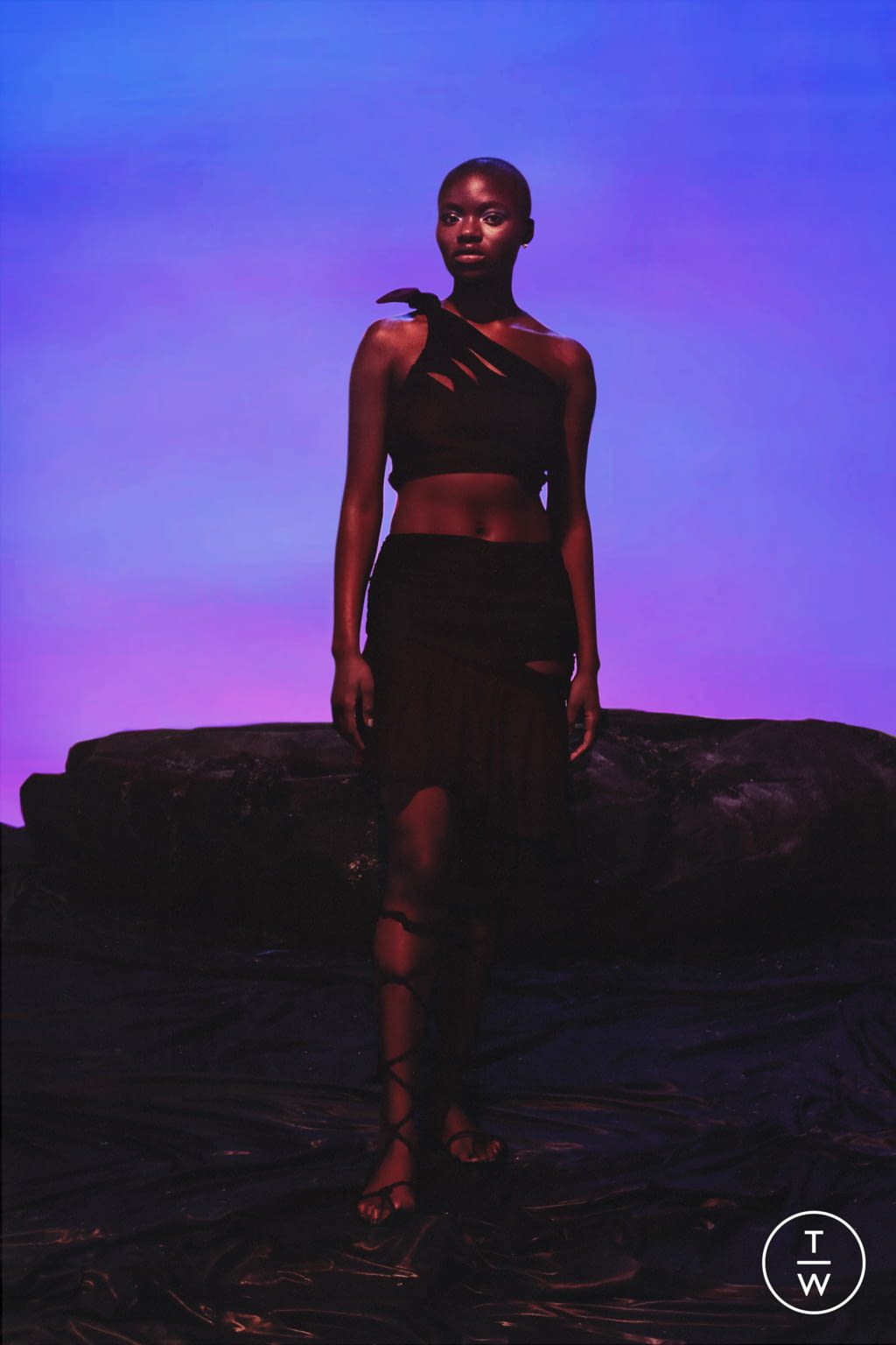 Fashion Week Paris Spring/Summer 2022 look 9 from the Di Petsa collection womenswear