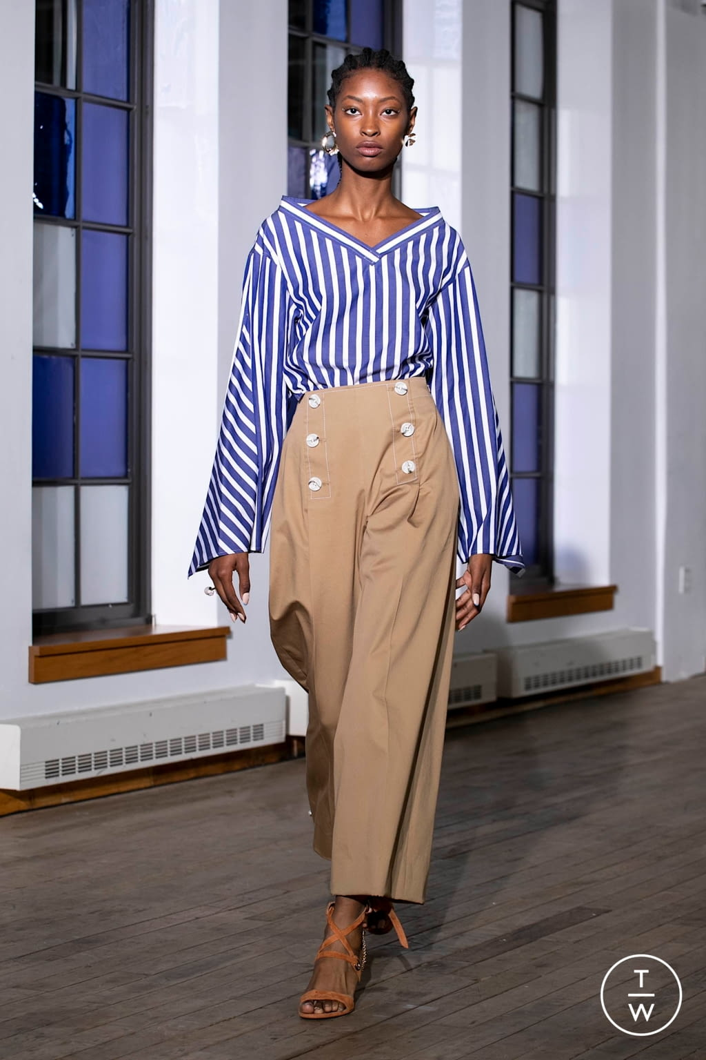 Fashion Week New York Spring/Summer 2020 look 10 from the Adeam collection 女装