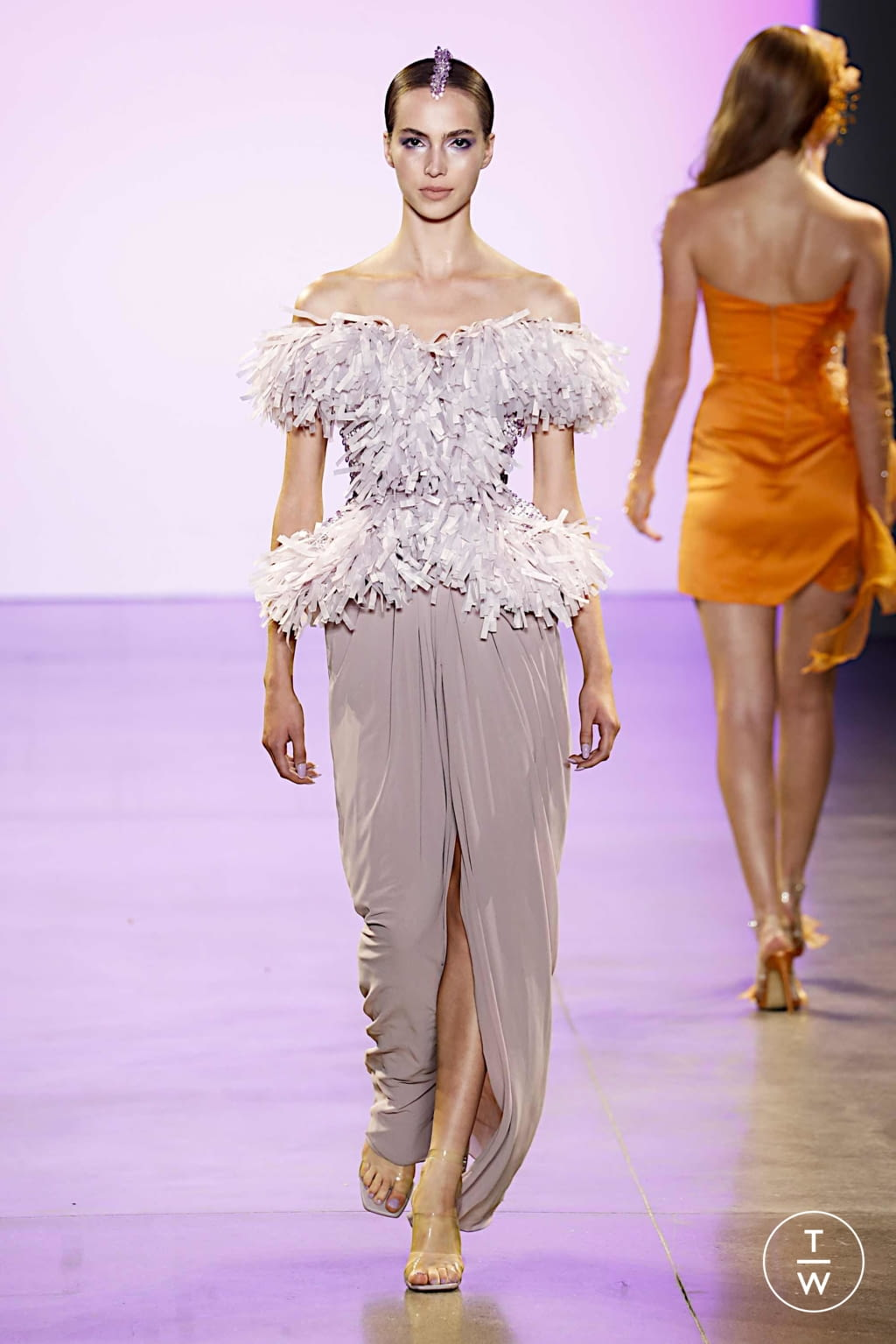 Fashion Week New York Spring/Summer 2020 look 2 from the Affair collection 女装