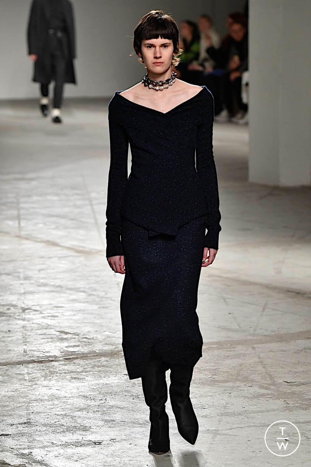 Fashion Week Milan Fall/Winter 2020 look 44 from the Agnona collection womenswear