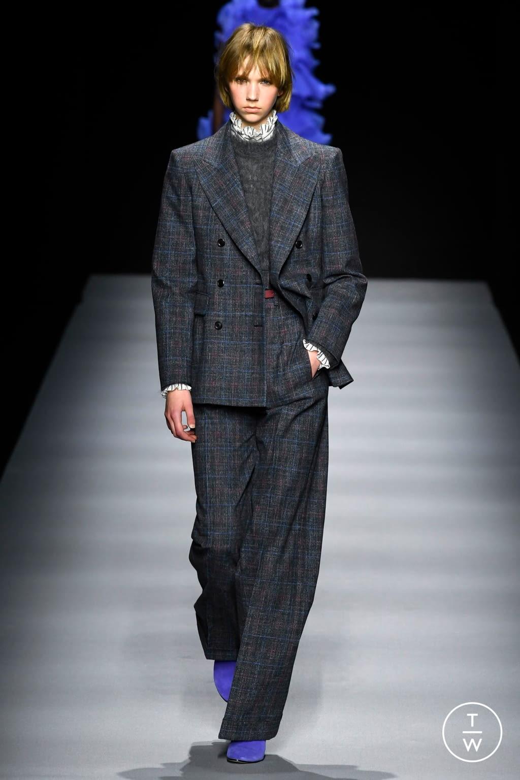 Fashion Week Milan Fall/Winter 2020 look 13 from the Alberta Ferretti collection womenswear
