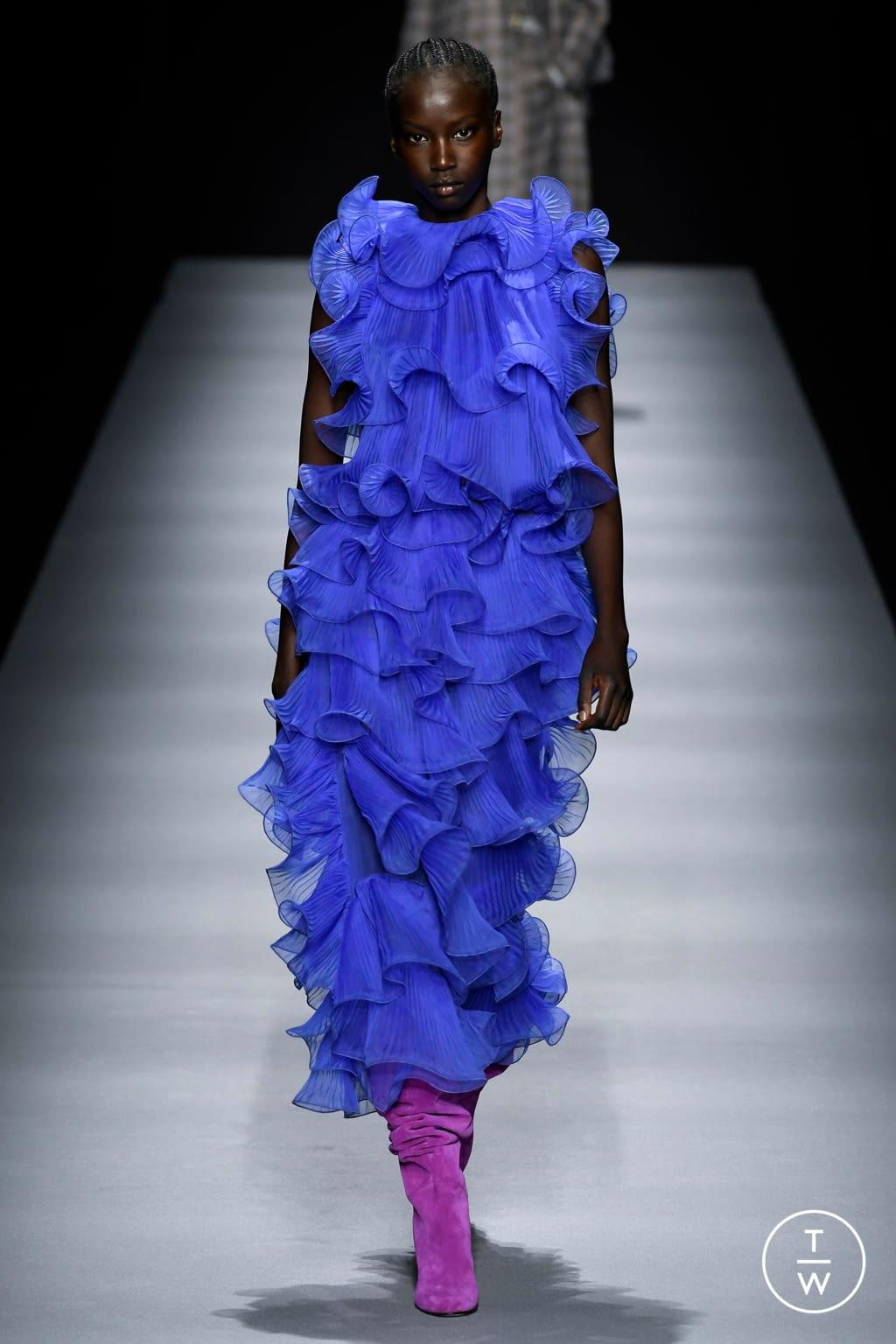 Fashion Week Milan Fall/Winter 2020 look 14 from the Alberta Ferretti collection womenswear