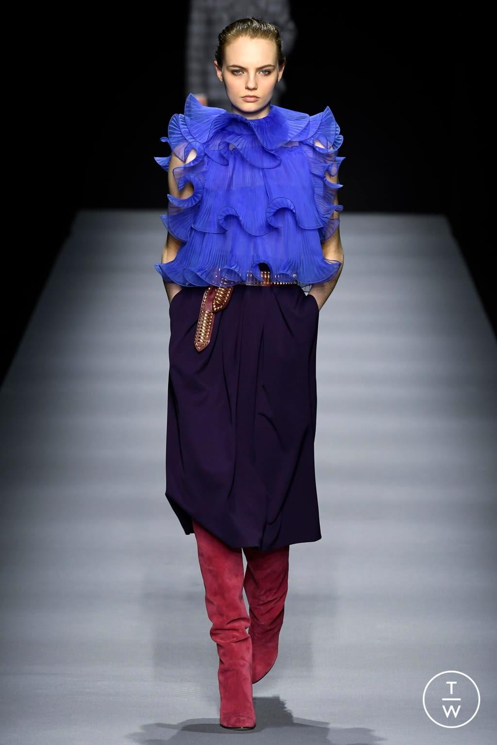 Fashion Week Milan Fall/Winter 2020 look 18 from the Alberta Ferretti collection womenswear