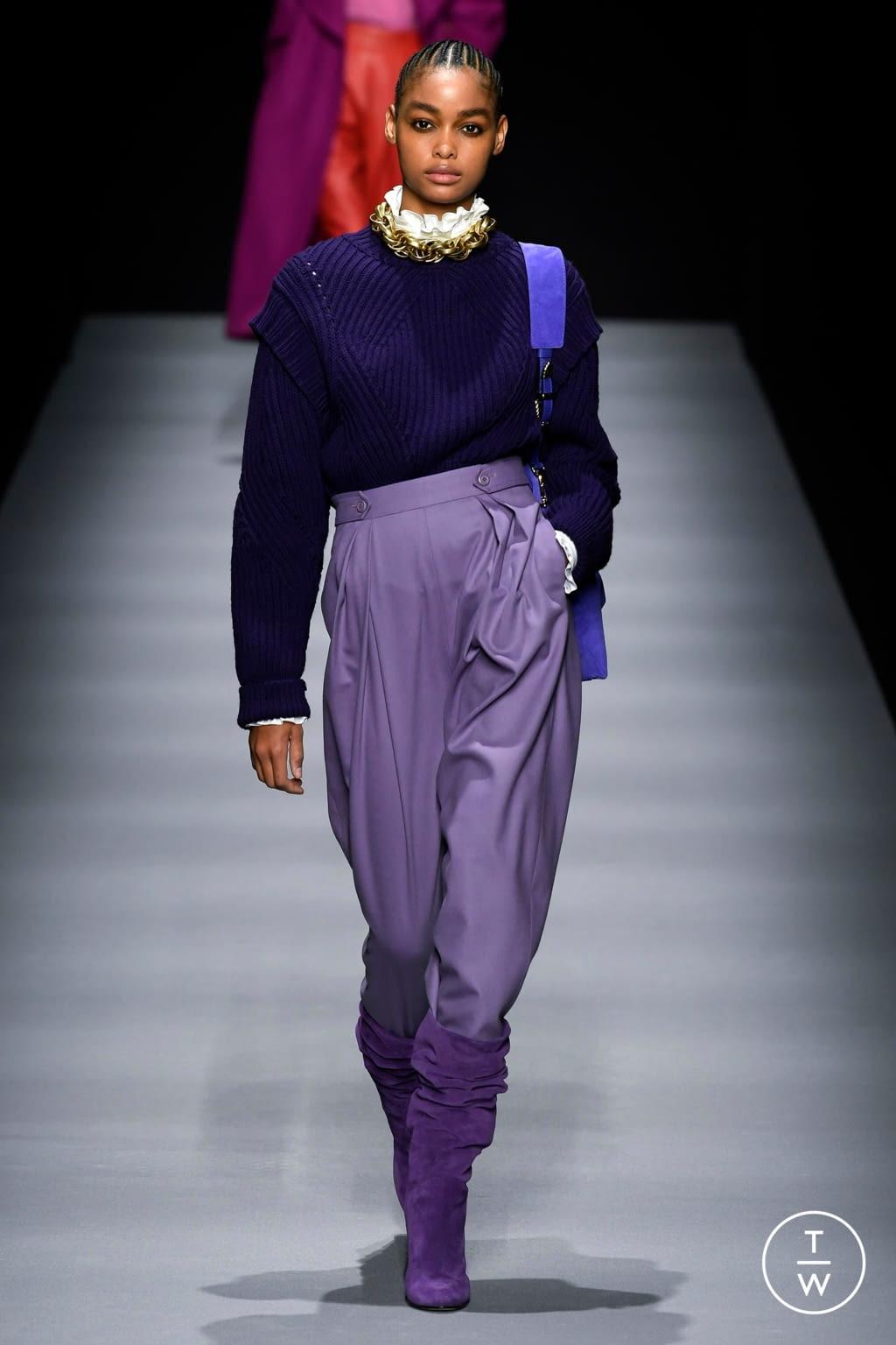 Fashion Week Milan Fall/Winter 2020 look 23 from the Alberta Ferretti collection womenswear