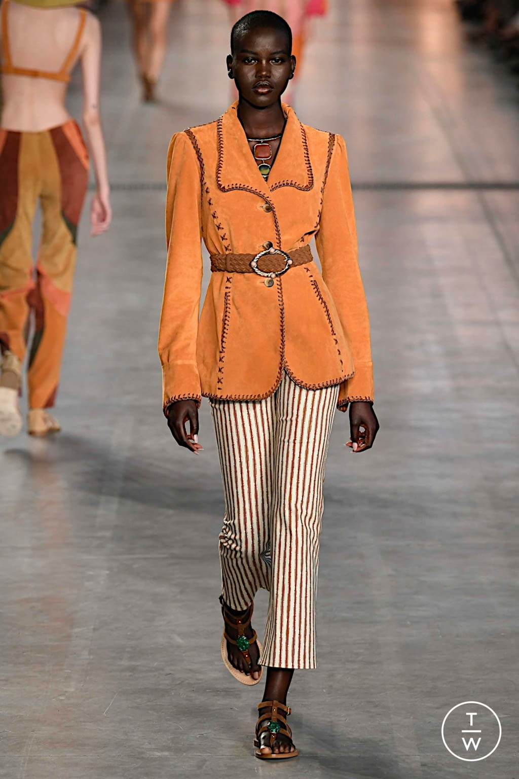 Fashion Week Milan Spring/Summer 2020 look 4 from the Alberta Ferretti collection womenswear