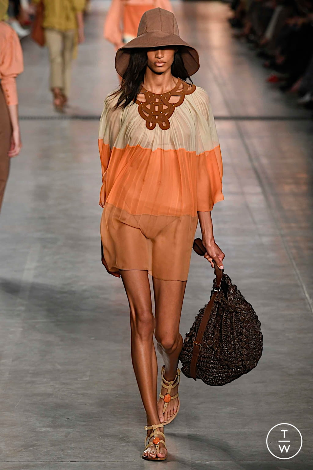Fashion Week Milan Spring/Summer 2020 look 13 from the Alberta Ferretti collection womenswear