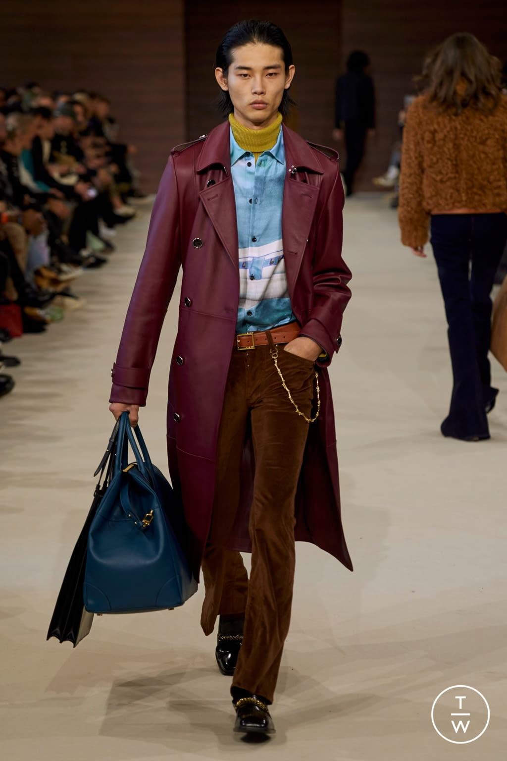 Fashion Week Paris Fall/Winter 2020 look 21 de la collection Amiri menswear