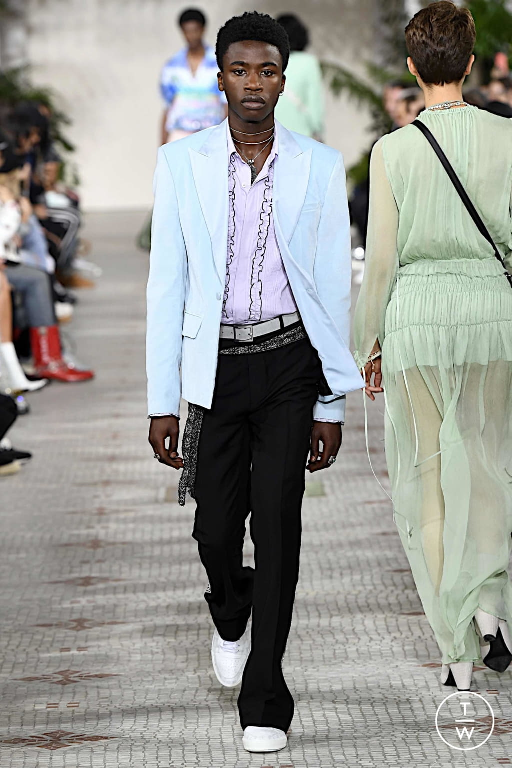 Fashion Week Paris Spring/Summer 2020 look 9 de la collection Amiri menswear