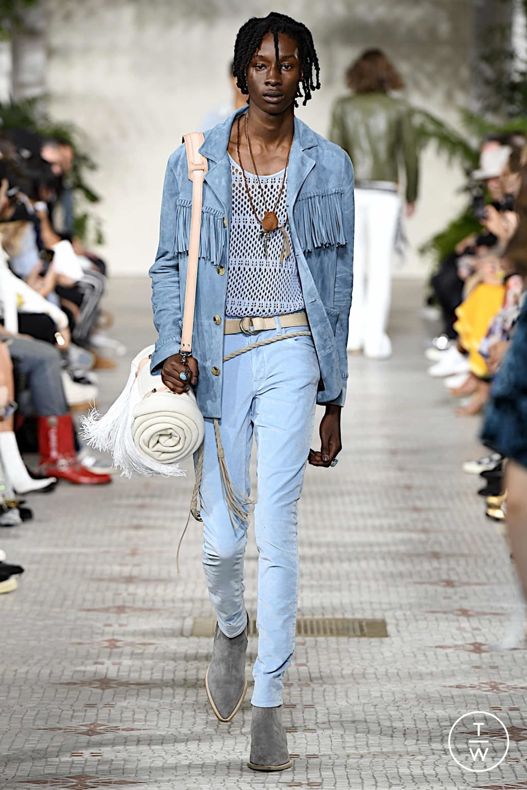 Fashion Week Paris Spring/Summer 2020 look 25 from the Amiri collection menswear
