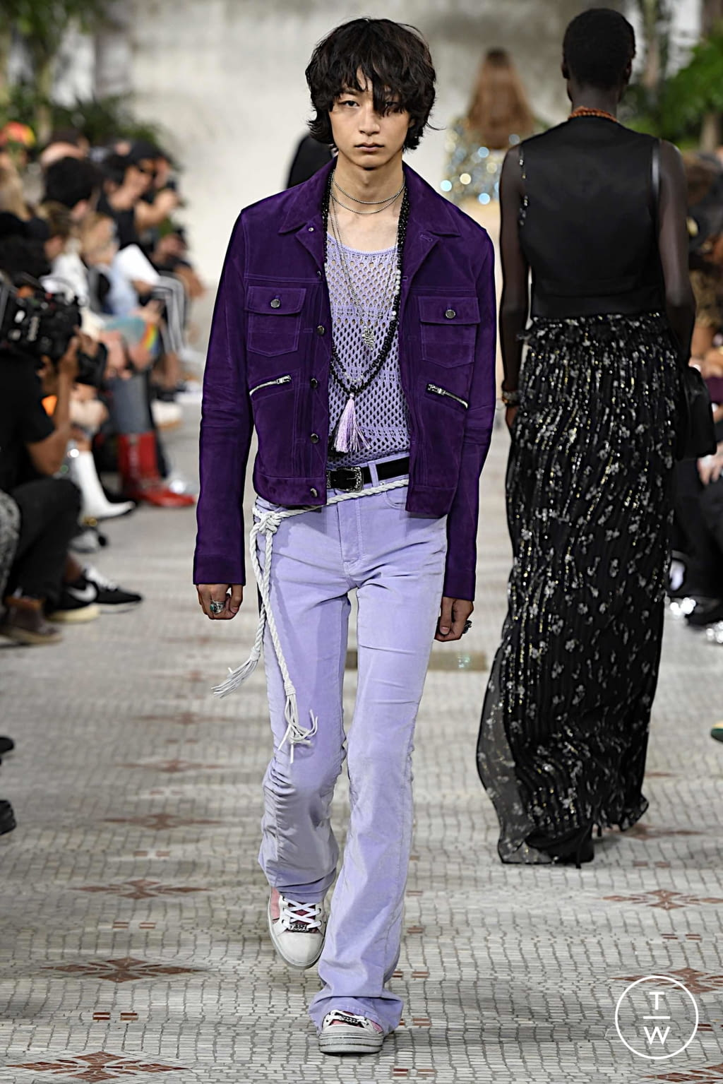Fashion Week Paris Spring/Summer 2020 look 35 from the Amiri collection menswear