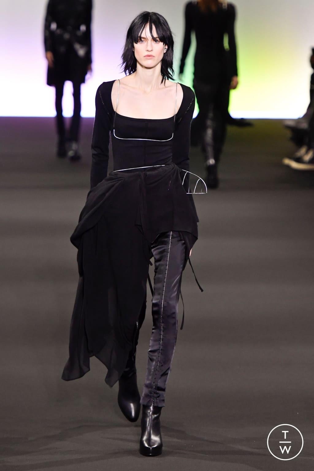 Fashion Week Paris Fall/Winter 2020 look 6 de la collection Ann Demeulemeester womenswear