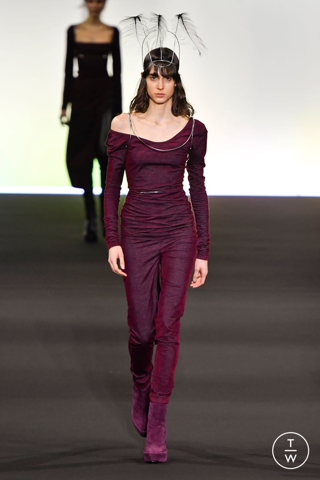 Fashion Week Paris Fall/Winter 2020 look 11 from the Ann Demeulemeester collection 女装
