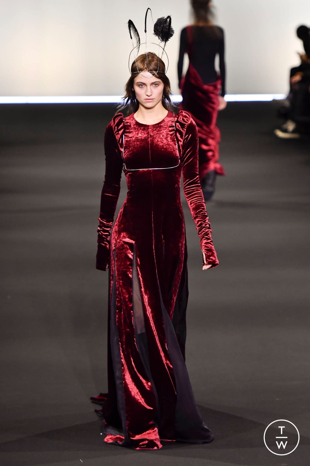 Fashion Week Paris Fall/Winter 2020 look 36 de la collection Ann Demeulemeester womenswear