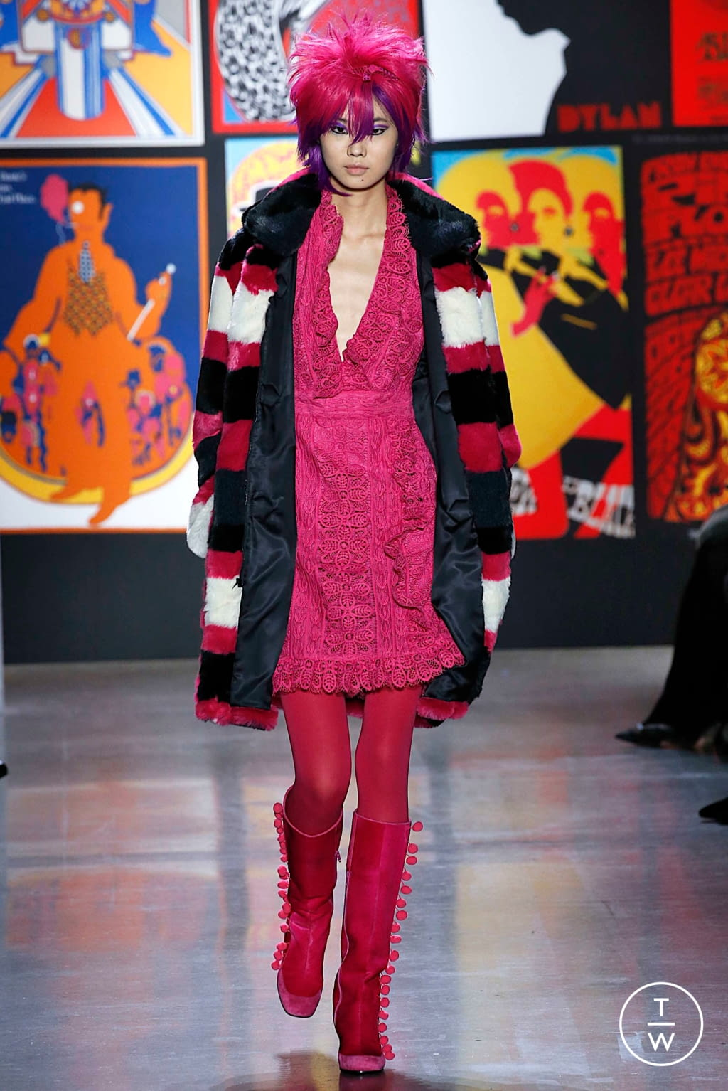 Fashion Week New York Fall/Winter 2019 look 20 from the Anna Sui collection womenswear
