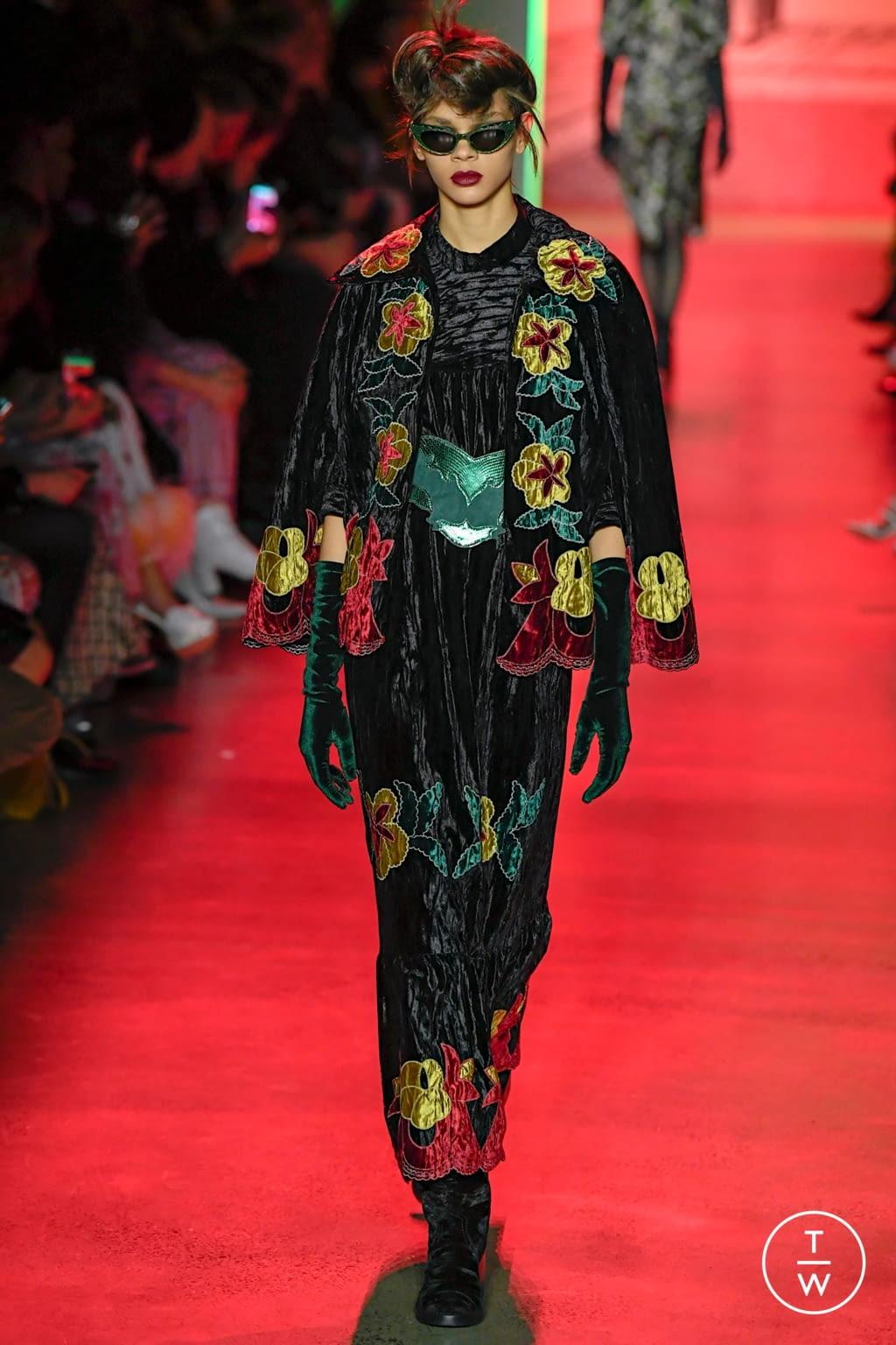 Fashion Week New York Fall/Winter 2020 look 10 de la collection Anna Sui womenswear