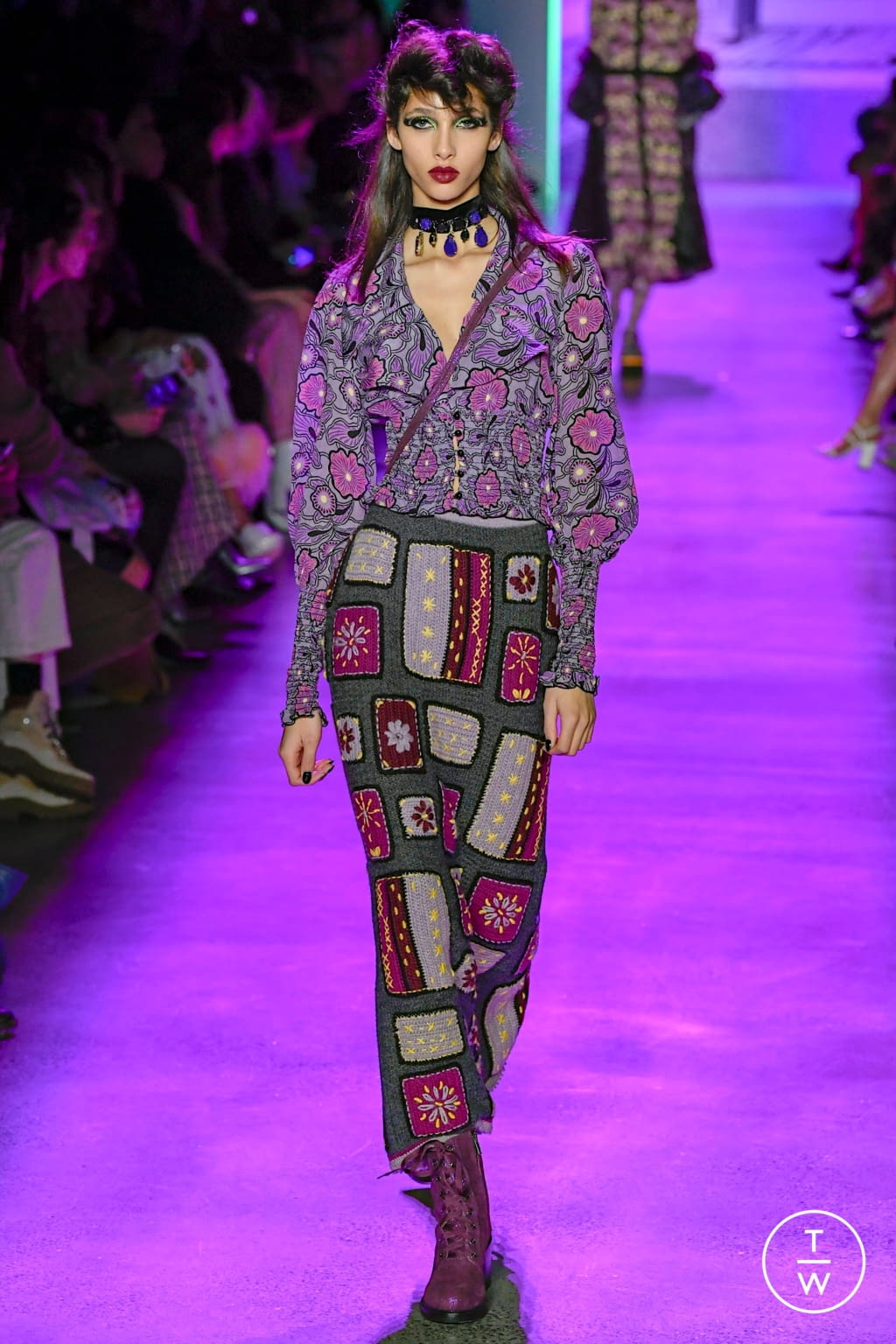 Fashion Week New York Fall/Winter 2020 look 18 from the Anna Sui collection womenswear