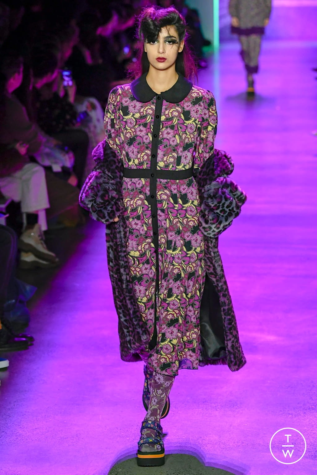 Fashion Week New York Fall/Winter 2020 look 19 from the Anna Sui collection womenswear