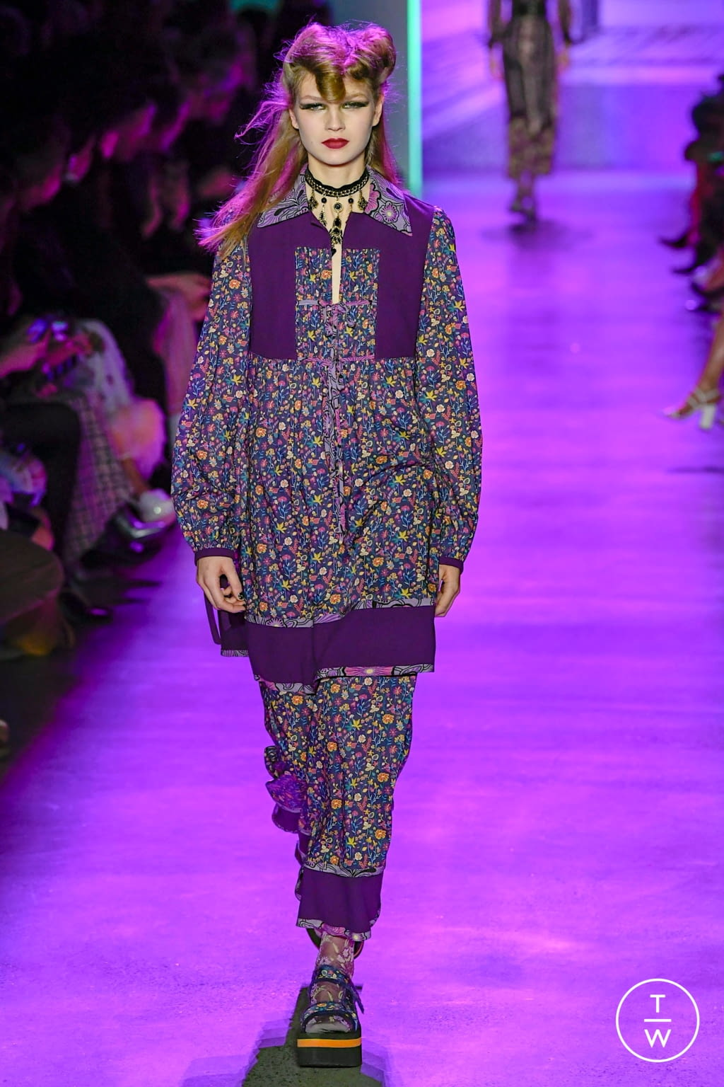 Fashion Week New York Fall/Winter 2020 look 20 from the Anna Sui collection womenswear