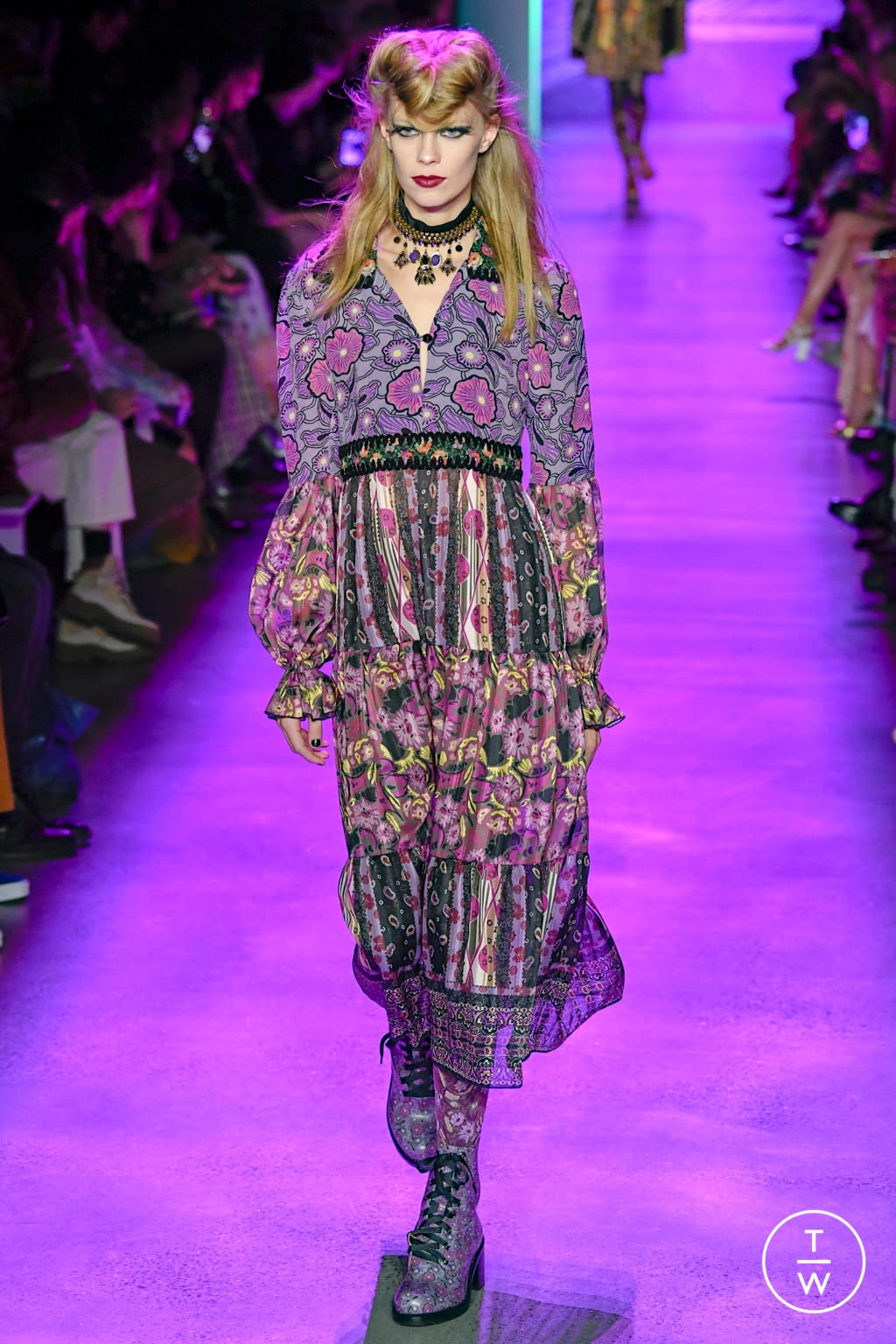 Fashion Week New York Fall/Winter 2020 look 23 from the Anna Sui collection womenswear