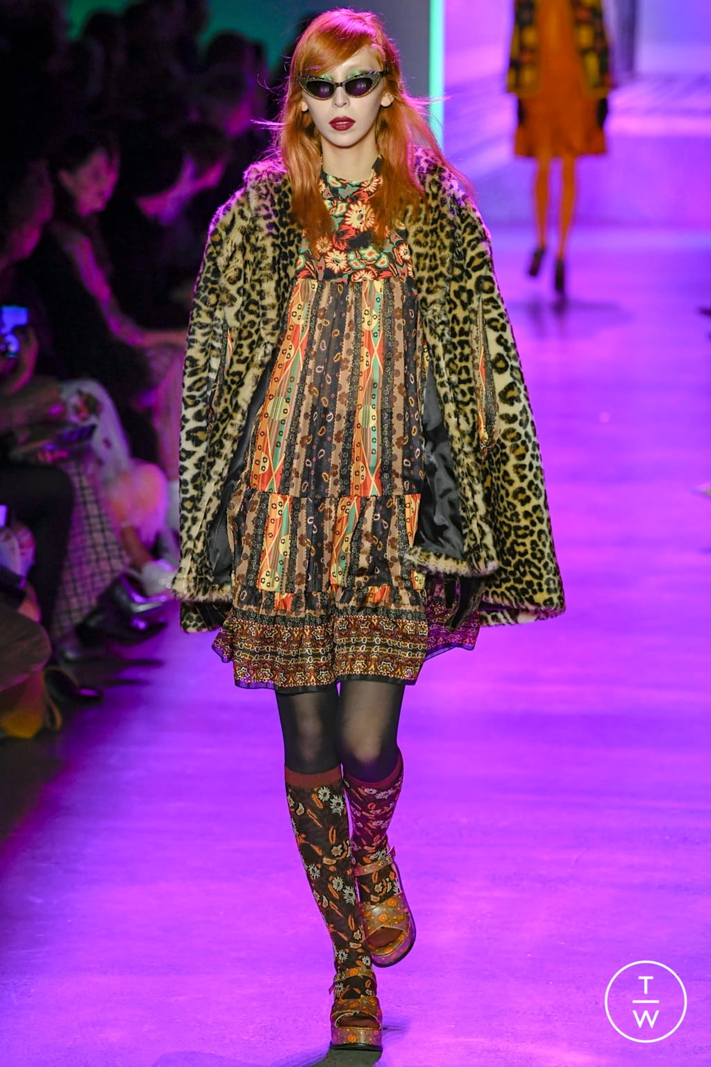 Fashion Week New York Fall/Winter 2020 look 24 from the Anna Sui collection womenswear
