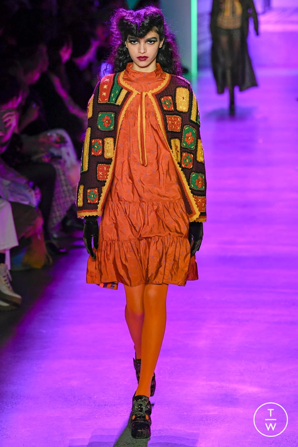 Fashion Week New York Fall/Winter 2020 look 25 from the Anna Sui collection 女装