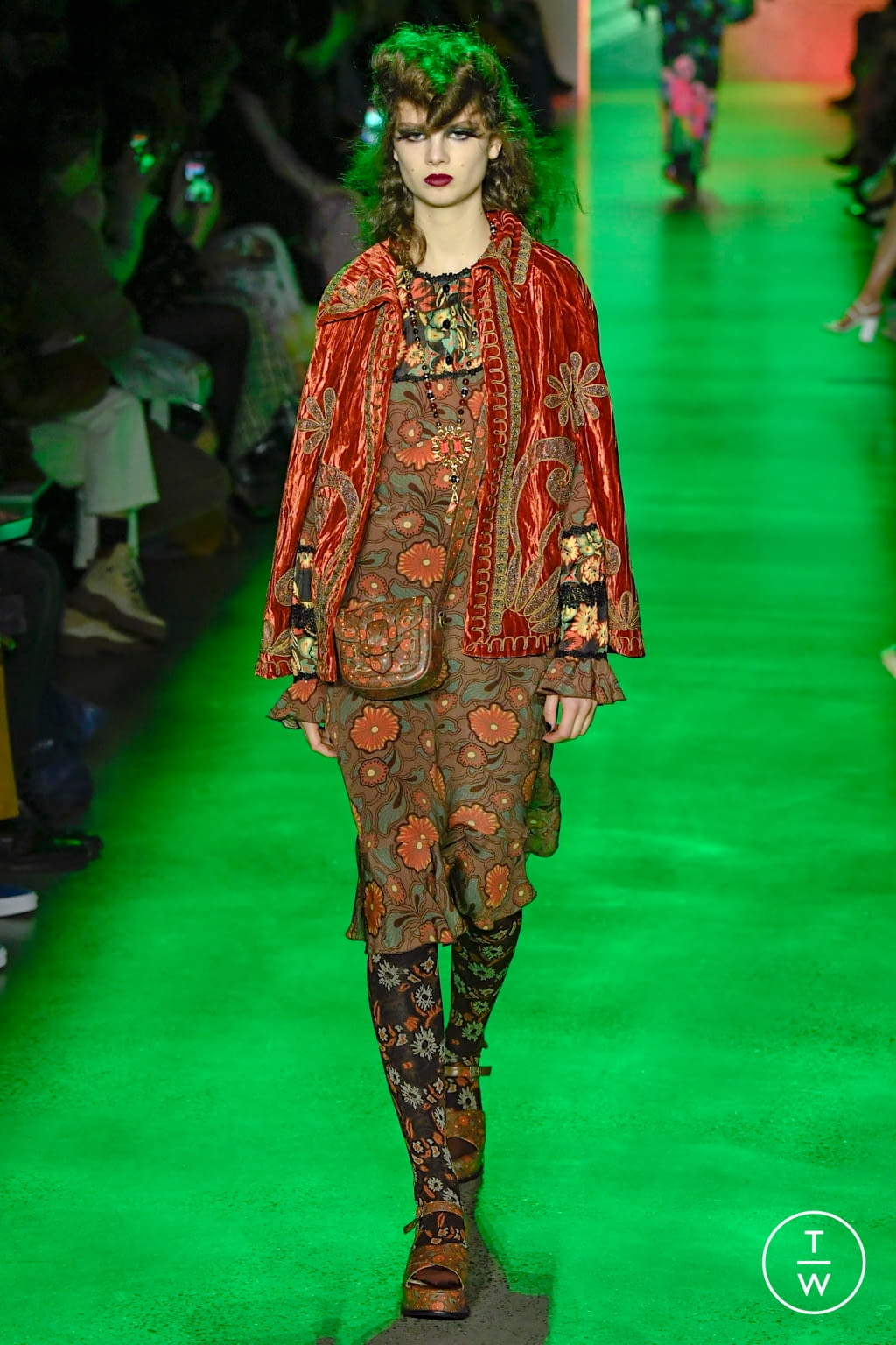 Fashion Week New York Fall/Winter 2020 look 27 from the Anna Sui collection womenswear