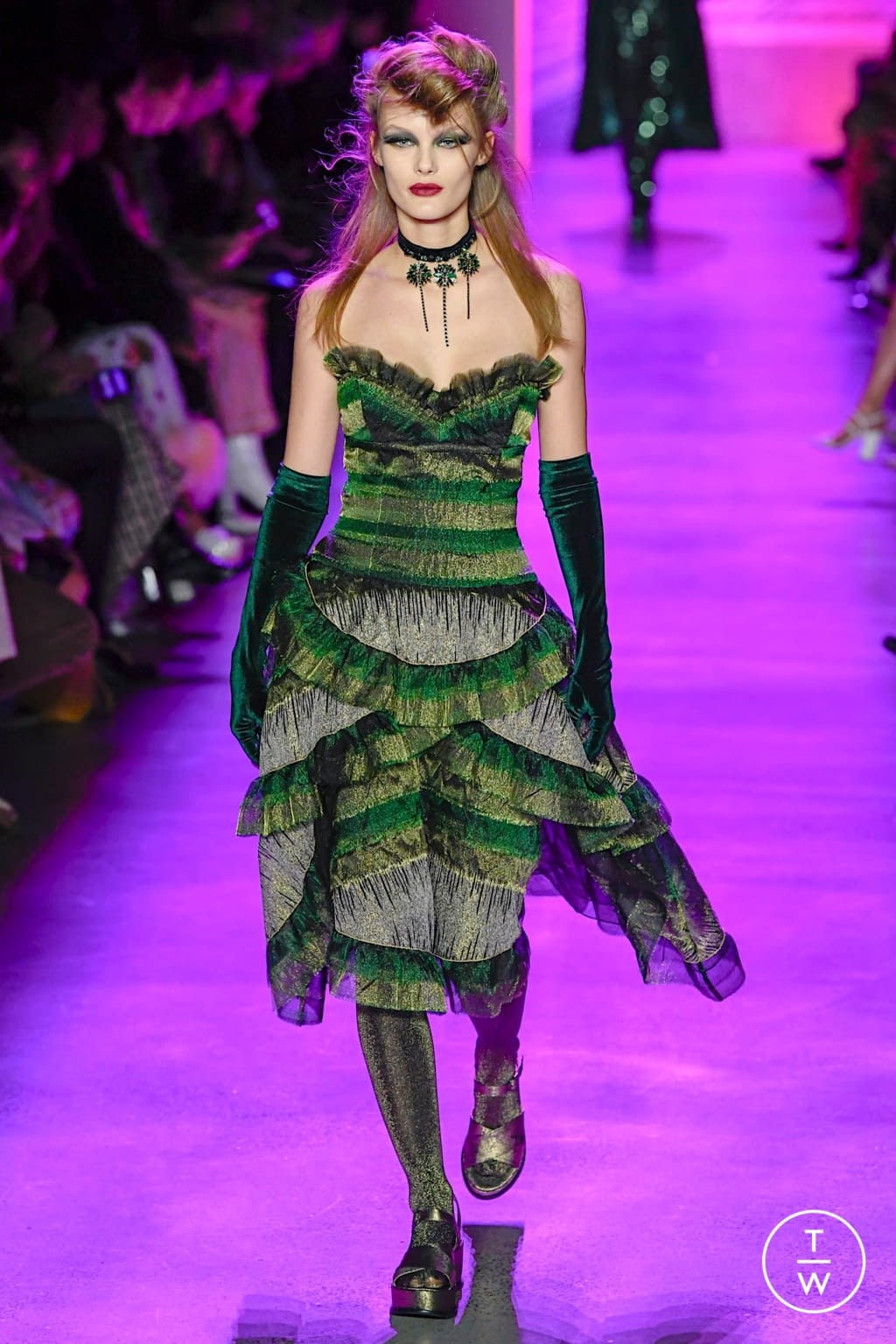 Fashion Week New York Fall/Winter 2020 look 45 from the Anna Sui collection womenswear