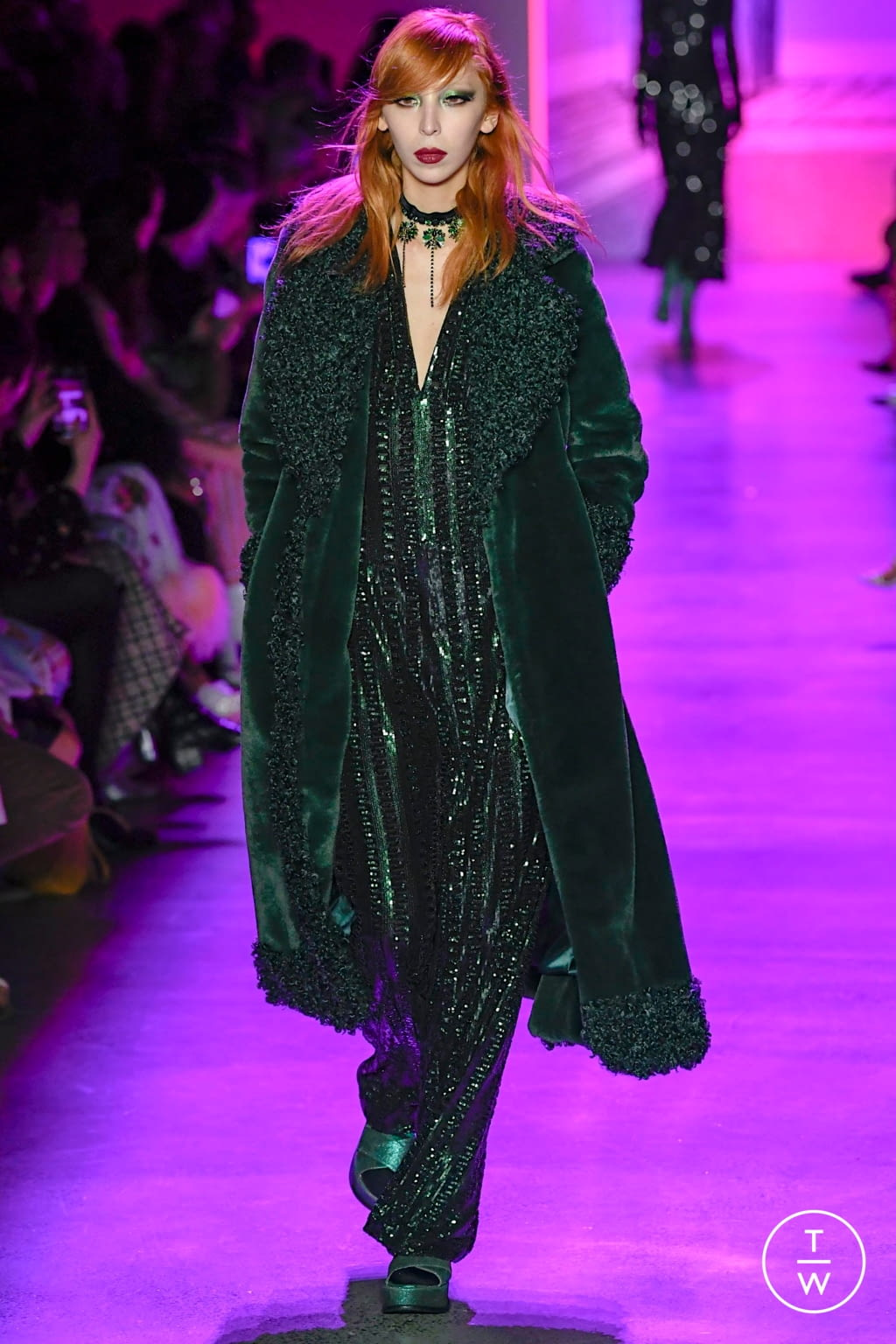 Fashion Week New York Fall/Winter 2020 look 46 from the Anna Sui collection womenswear