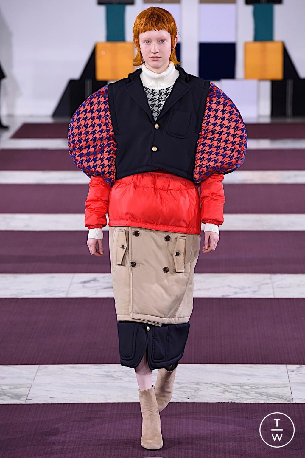 Fashion Week Paris Fall/Winter 2020 look 28 from the Anrealage collection womenswear