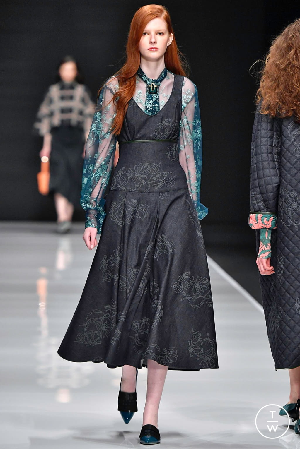 Fashion Week Milan Fall/Winter 2019 look 12 from the Anteprima collection 女装